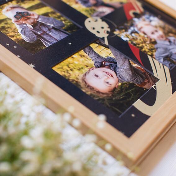 Панно из 4 снимков с тематическим паспарту в рамке(6)