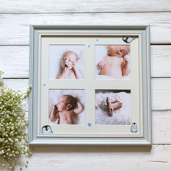 Панно из 4 снимков с тематическим паспарту в рамке(3)