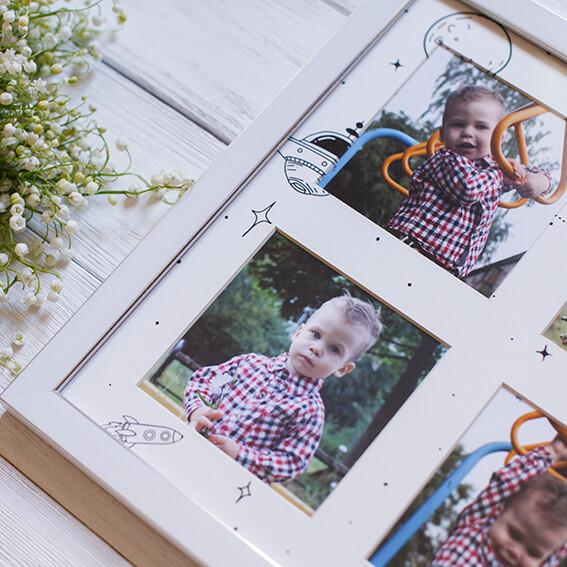 Панно из 4 снимков с тематическим паспарту в рамке(8)