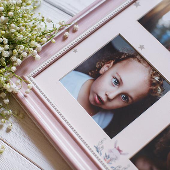 Панно из 4 снимков с тематическим паспарту в рамке(2)