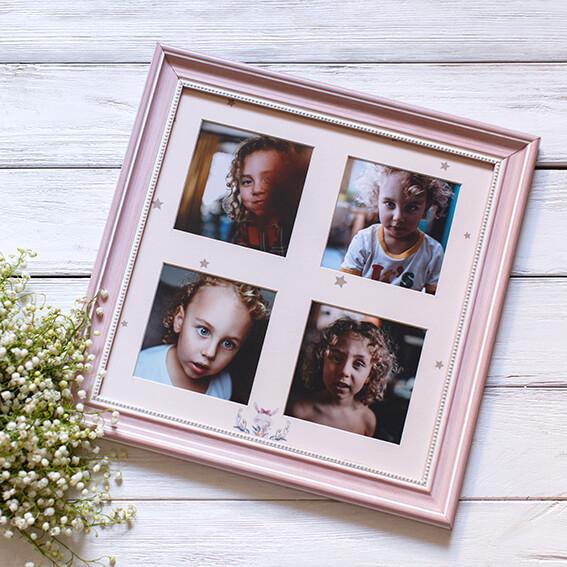 Панно из 4 снимков с тематическим паспарту в рамке(1)